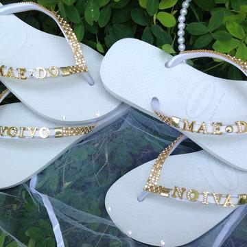 Havaianas Mãe Noivo/Noiva-kit 2 pares