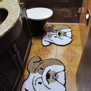 Tapetes Banheiro Bulldog Inglês