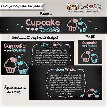 Kit layout para Loja Elo 7 Cupcake Chalk