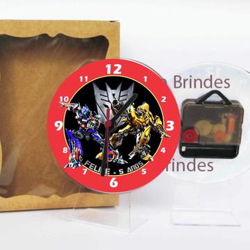 0957d02cf Transformers Relogio Mesa Personalizado | Elo7