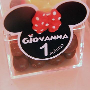 Tag com aplique em biscuit Minnie