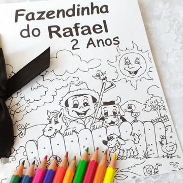 Convite Livro de colorir Fazendinha