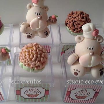 Festa confeitaria - caixinhas ursos confeiteiros