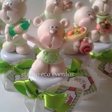 Lembrancinha urso confeiteiro biscuit