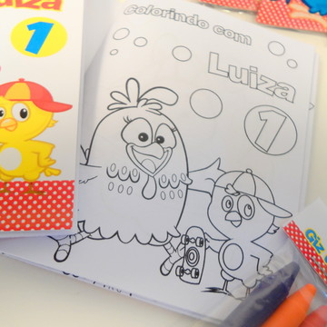 Mini caderno colorir Galinha pintadinha