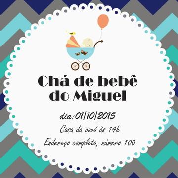Convite de Chá de Bebê Personalizado