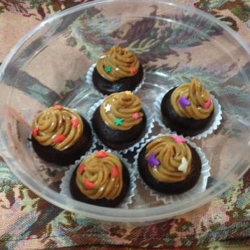 Mini Cupcakes Especiais (cobertura de doce de leite)