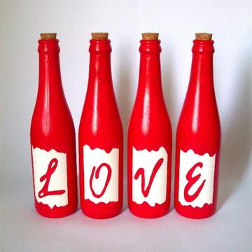 "Garrafas Decorativas ""Love"""