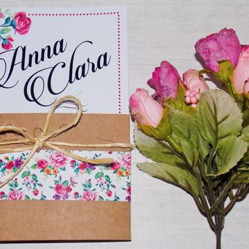 Convite Floral 15 Anos Delicate