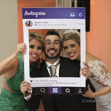 Placa Instagram Casamento