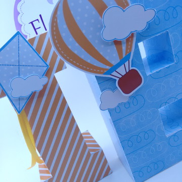 Letras 3D Pipas e Balões