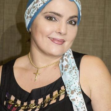 Turbante Azul com Detalhe de Oncinha