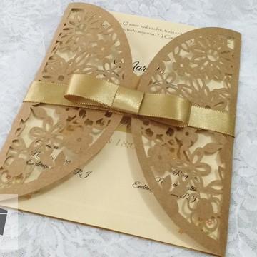 Convite para Casamento - Convite de casamento amor rendado 1