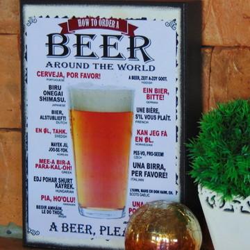 Quadro Vintage Cerveja Beer