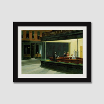 Quadro Pintores Famosos Edward Hopper N7 Decorativo Paspatur