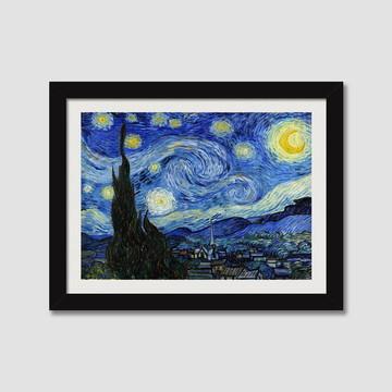 Quadro Noite Estrelada Van Gogh N7 Pintores Famosos Paspatur