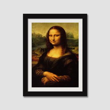 Quadro Monalisa Leonardo da Vinci Pintores Famosos N7 Sala
