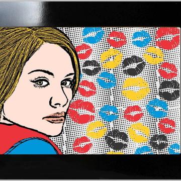 QUADRO POSTER - POP ARTE - KISS