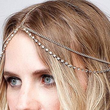 Tiara Head chain Ano novo noiva casamento debutante
