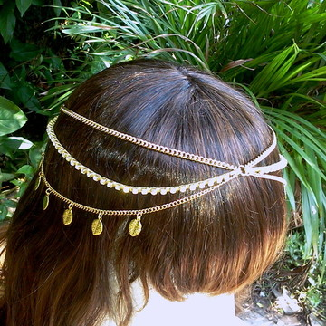 head chain tiara estilo boho gipsy