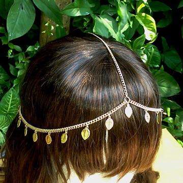 head chain folhinhas