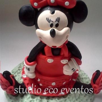 Vela de aniversário Minnie vermelha Disney