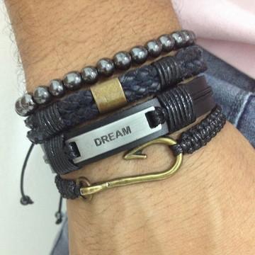 Kit pulseiras masculinas Dream