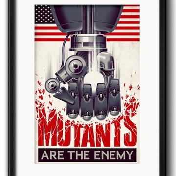 Quadro Mutantes X Men com Paspatur