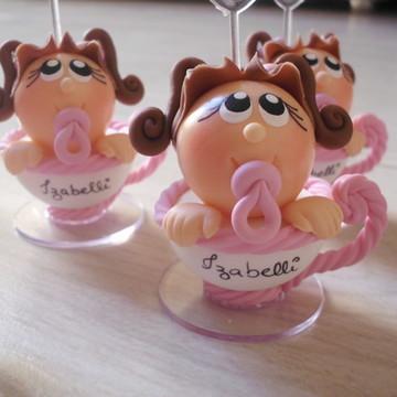 lembrança chá de bebê na xícara