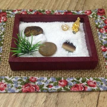 Jardim Japonês Zen - Miniatura com Buda
