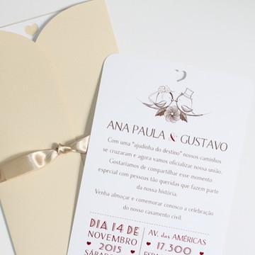 Convite Love Birds - Casamento
