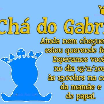Convite Coroa Menino Azul