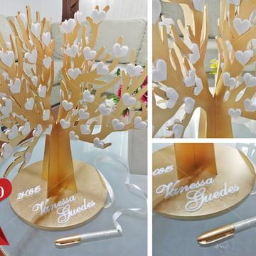 Árvore de Assinaturas - 150 corações