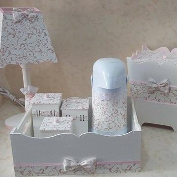 Kit Higiene Bebê - Floral Delicado