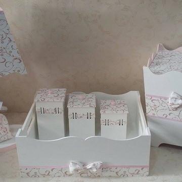 Kit Higiene Bebê Delicado c/ Arabescos