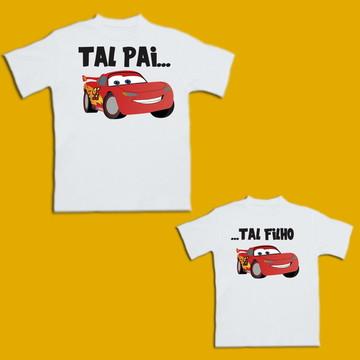 Kit Camiseta Carro Relâmpago Lightning McQueen Disney