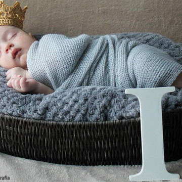 Mini coroa em Crochê Dourada