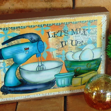 Quadro Vintage - Cozinha Batedeira