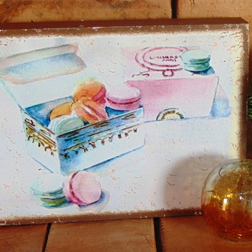 Quadro Vintage - Macarons