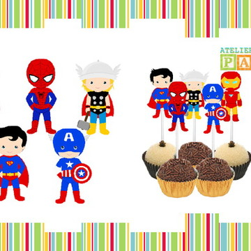 TOPPER DOCE SUPER HEROIS