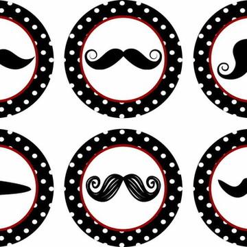 Mustaches bigodes 15 Adesivos