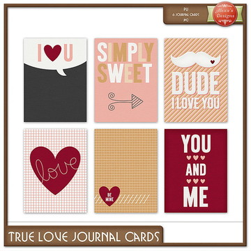 Kit Digital True Love Journal Cards