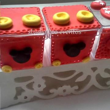 Caixinha de biscuit mickey - arquiteta das festas