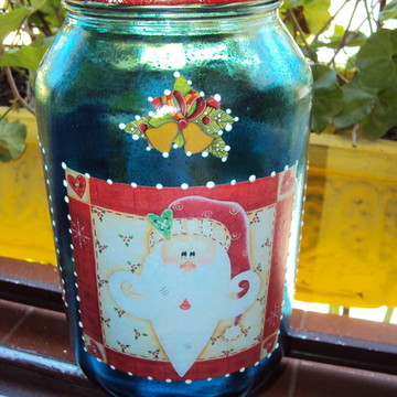 Vidro Azul - Natal Genial
