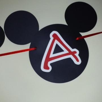 Bandeirinha Orelha Mickey e Minnie