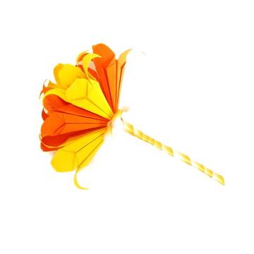 Mini Buquê Lírios - Laranja/Amarelo
