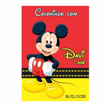 Caderno de Colorir Mickey