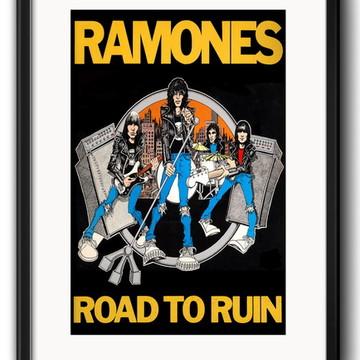 Quadro Ramones Road To Ruin com Paspatur