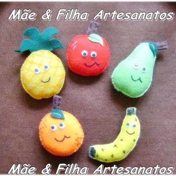 Ímã Frutas e Legumes _ Feltro