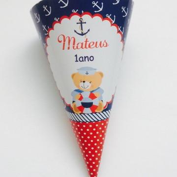 Cone personalizado Ursinho marinheiro